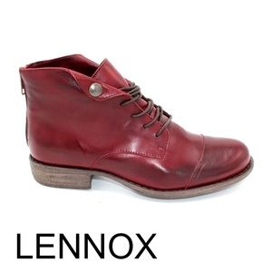 Miz Mozz Lennox leather in burgundy ankle boots
